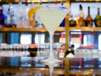 Lemon drop martini  with a sugar martini at Seagar's restaurant Destin FL